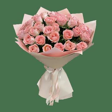 Blumenstrauß aus rosa Rosen