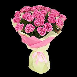 Blumenstrauß aus rosigen Rosen