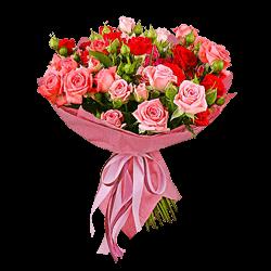 Blumenstrauß aus Strauchrosen