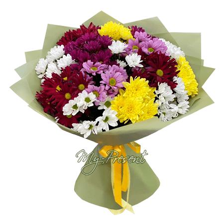 Blumenstrauß aus bunte Chrysanthemen