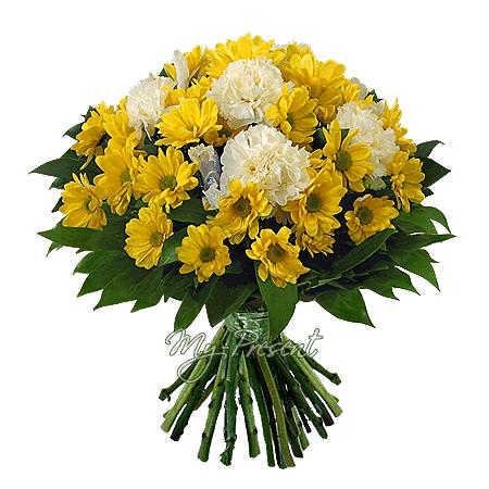 Blumenstrauß aus Chrysanthemen und Nelken