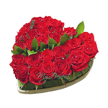 Das Herz aus den roten Rosen