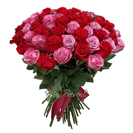 Blumenstrauß aus Rosen (60 cm.)