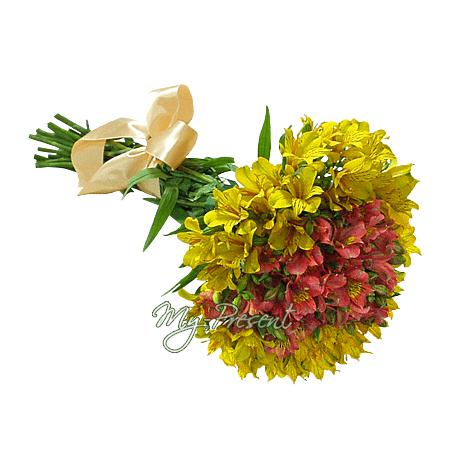 Blumenstrauß aus Alstroemerien