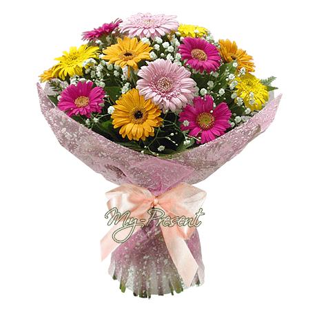 Blumenstrauß aus mini-Germinis