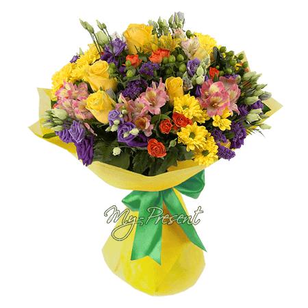 Blumenstrauß der Saisonblumen