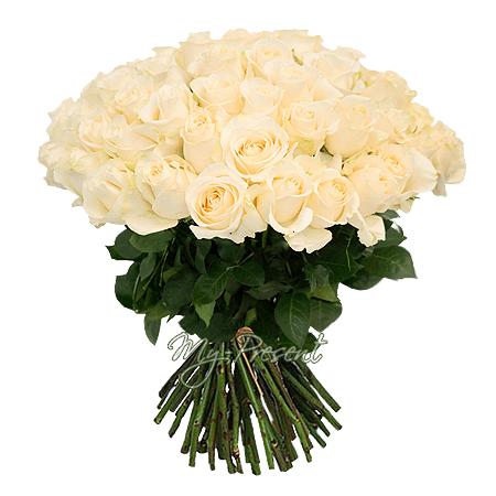 Blumenstrauß aus weißen Rosen (50 cm.)