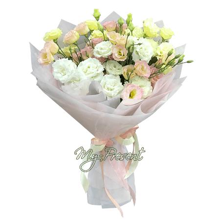 Blumenstrauß aus Lisianthus