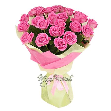 Strauß rosa Rosen (80 cm.)