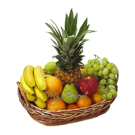 Der Korb mit den Früchten in Minsk