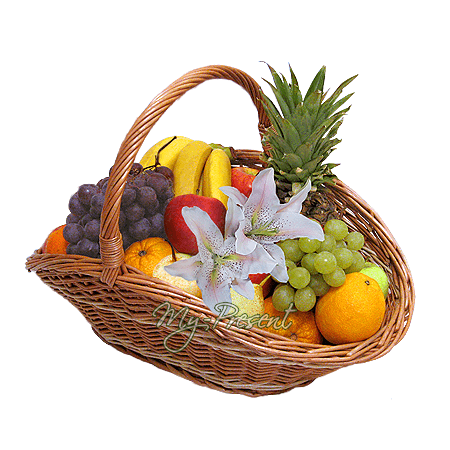 Der Korb mit den Früchten