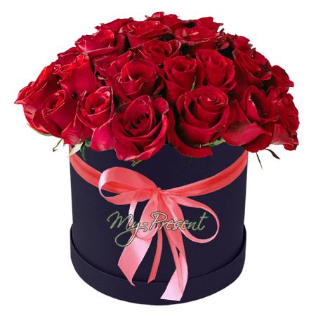 der Rabatt - Roten Rosen in einer Box